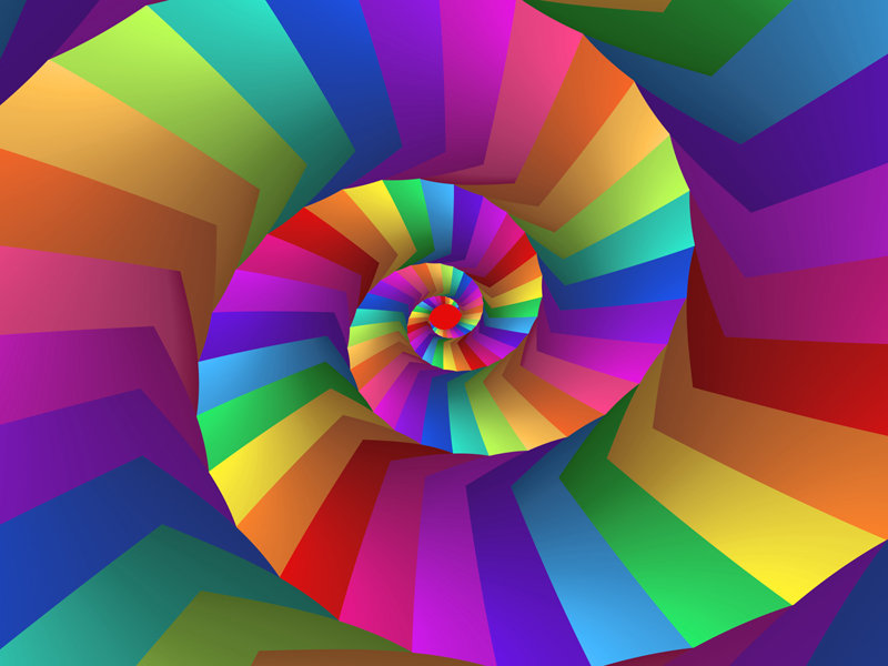 Fractal Art Wallpaper, Abstract Rainbow