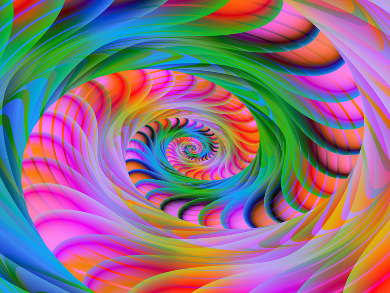 Fractal Art Wallpaper, Afterglow