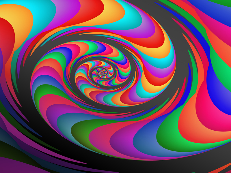 Fractal Art Wallpaper, Alien Waves 2