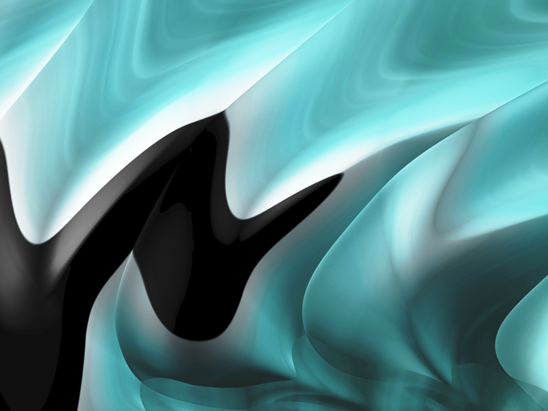 Fractal Art Wallpaper, Aqua Black Frax
