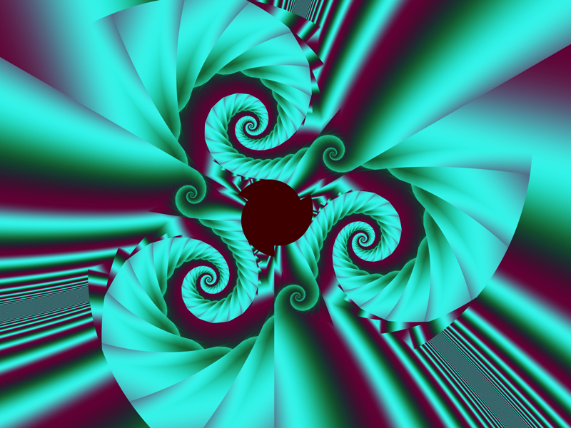 Fractal Art Wallpaper, Aqua Swirl