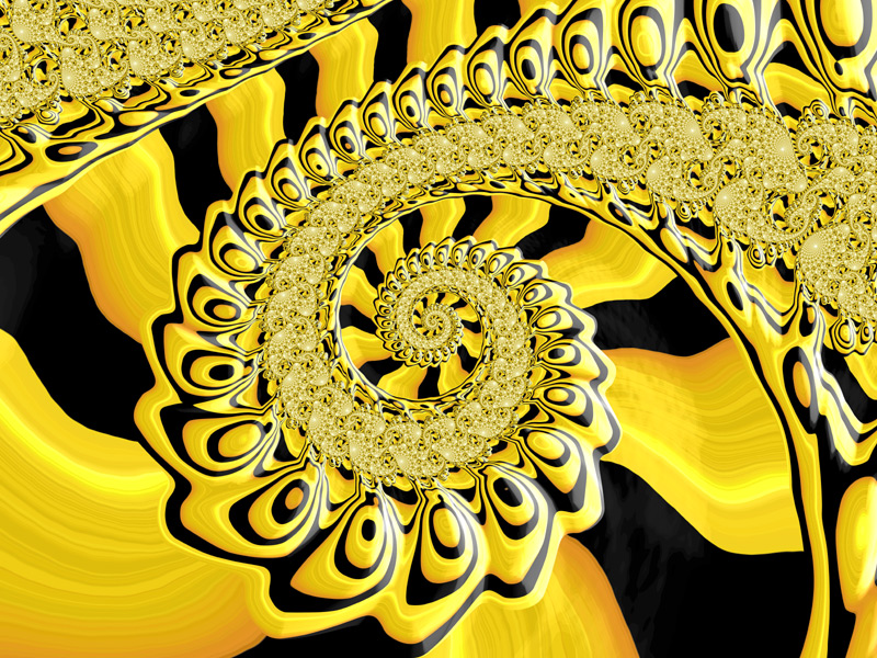 Fractal Art Wallpaper, Black And Gold Frax 2