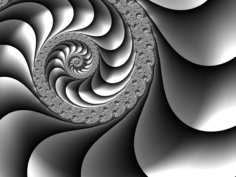 Fractal Art Wallpaper, Black And White Frax