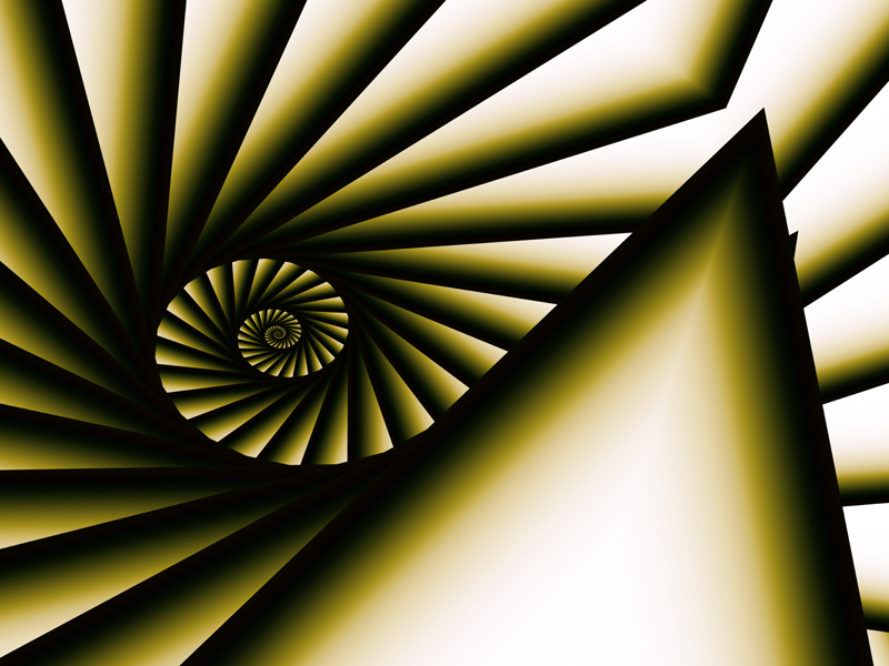 Fractal Art Wallpaper, Black Diamond Spiral