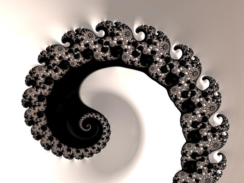 Fractal Art Wallpaper, Black Pearl Frax