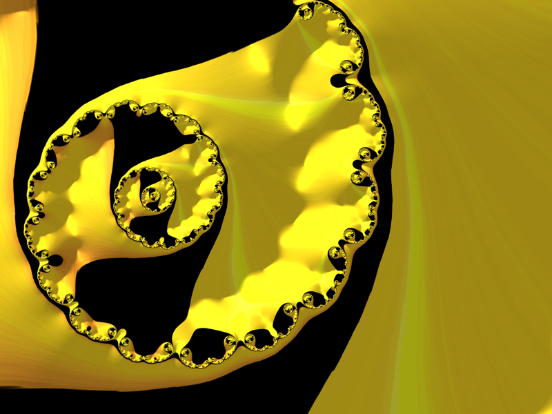 Fractal Art Wallpaper, Black Yellow 2016