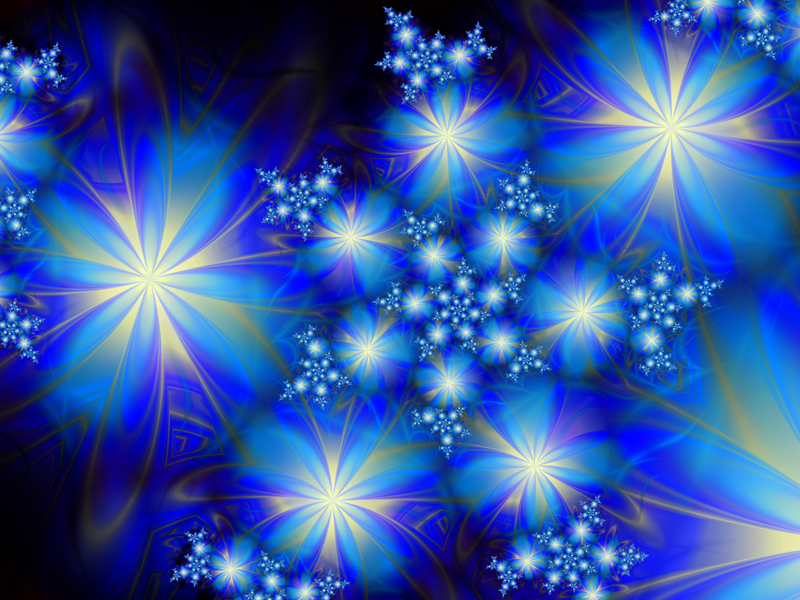 Fractal Art Wallpaper, Blue Bonanza