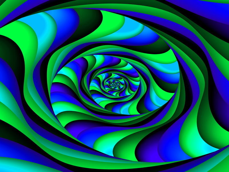 blue green swirl