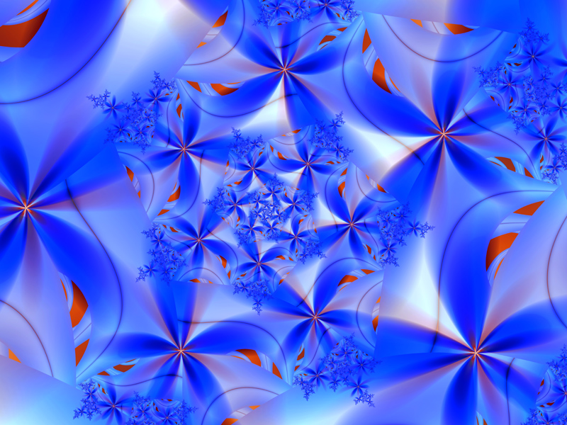 Fractal Art Wallpaper, Blue Magic