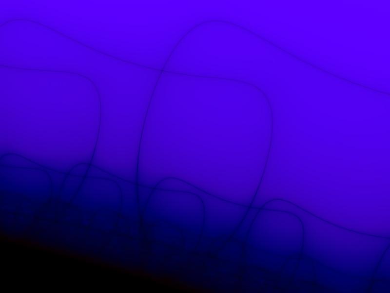 Fractal Art Wallpaper, Blue