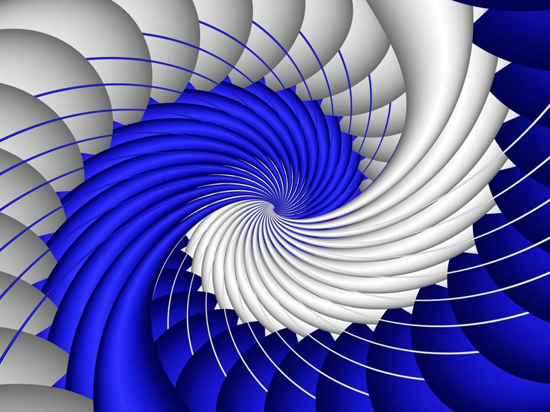 Fractal Art Wallpaper, Blue Wave