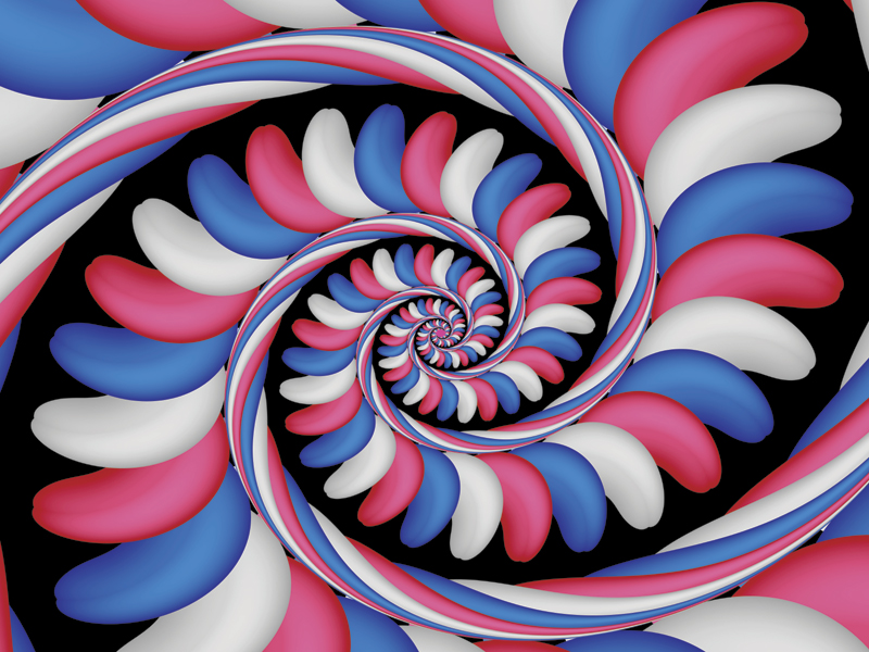 Fractal Art Wallpaper, Candy Stripes 3