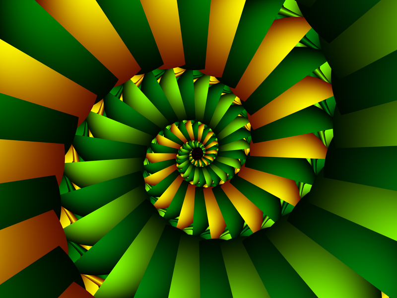 Fractal Art Wallpaper, Cissoid Of Diocles Green Gold