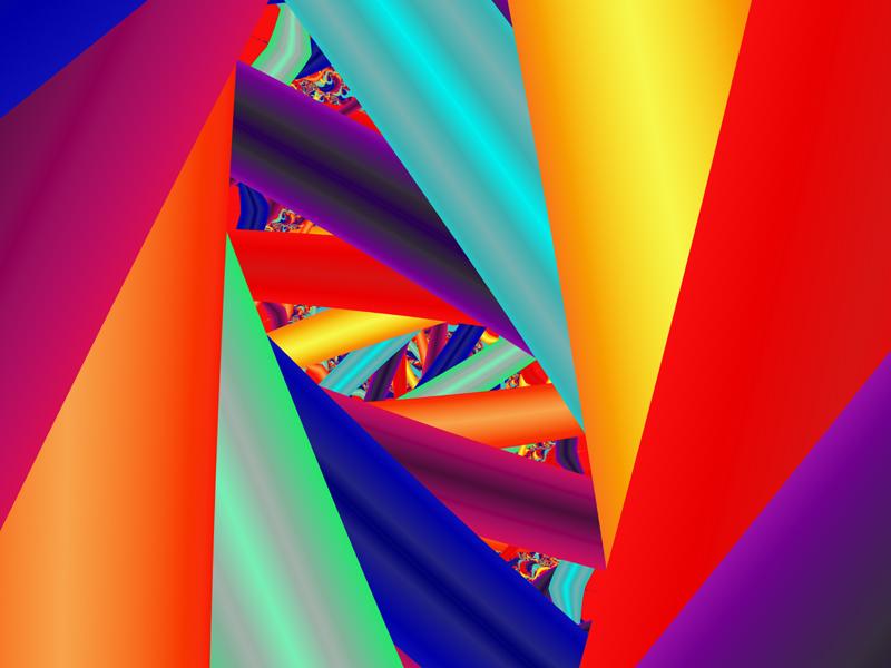 Fractal Art Wallpaper, Color 24