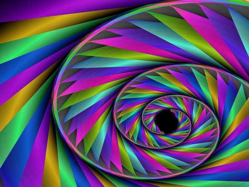 Fractal Art Wallpaper, Color Rope 2
