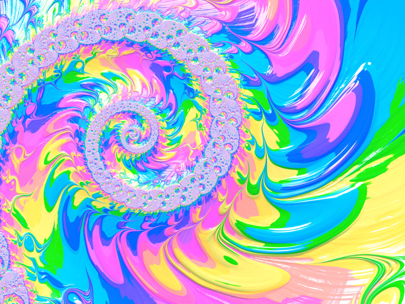 Fractal Art Wallpaper, Colorful Frax