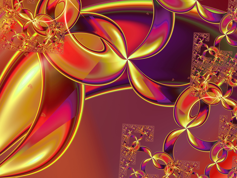Fractal Art Wallpaper, Colorful Sierpinski