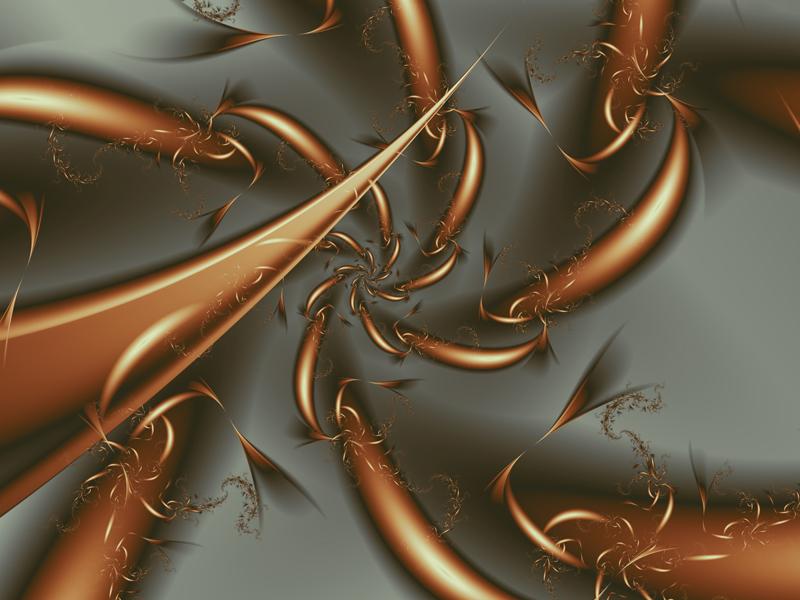 Fractal Art Wallpaper, Copper Whirl