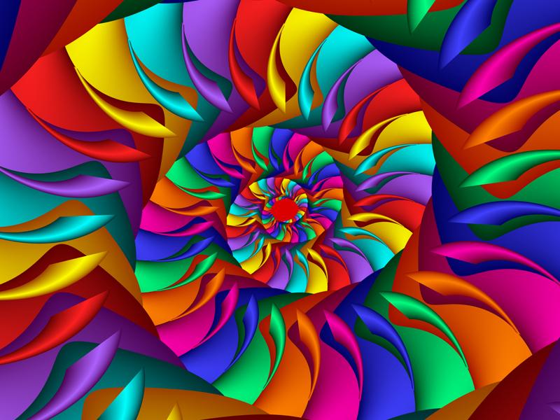 Fractal Art Wallpaper, Cosmic Rays 2