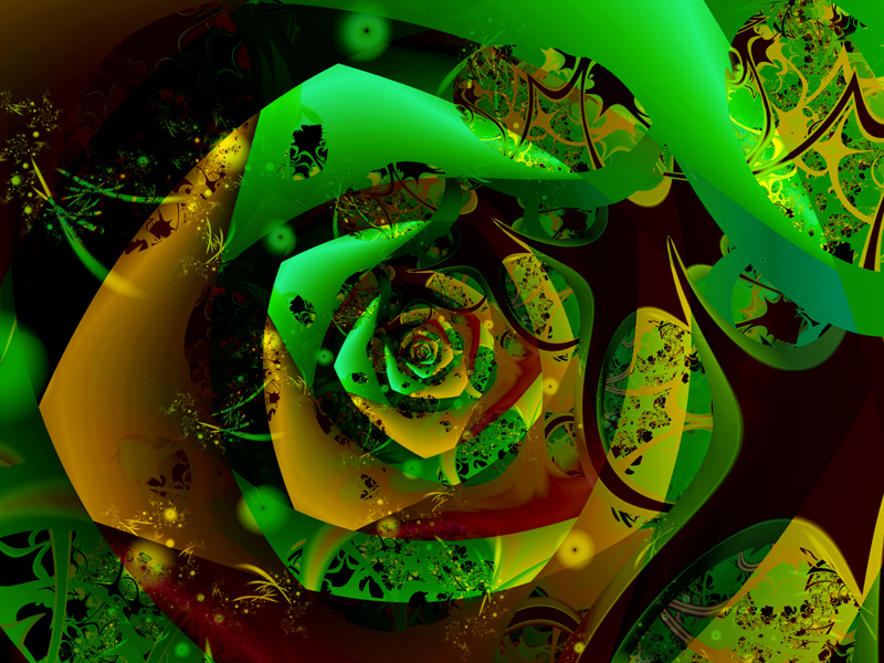 Fractal Art Wallpaper, Distant Flower