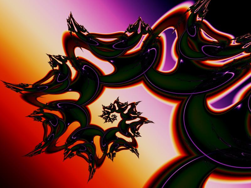 Fractal Art Wallpaper, Dragon 3