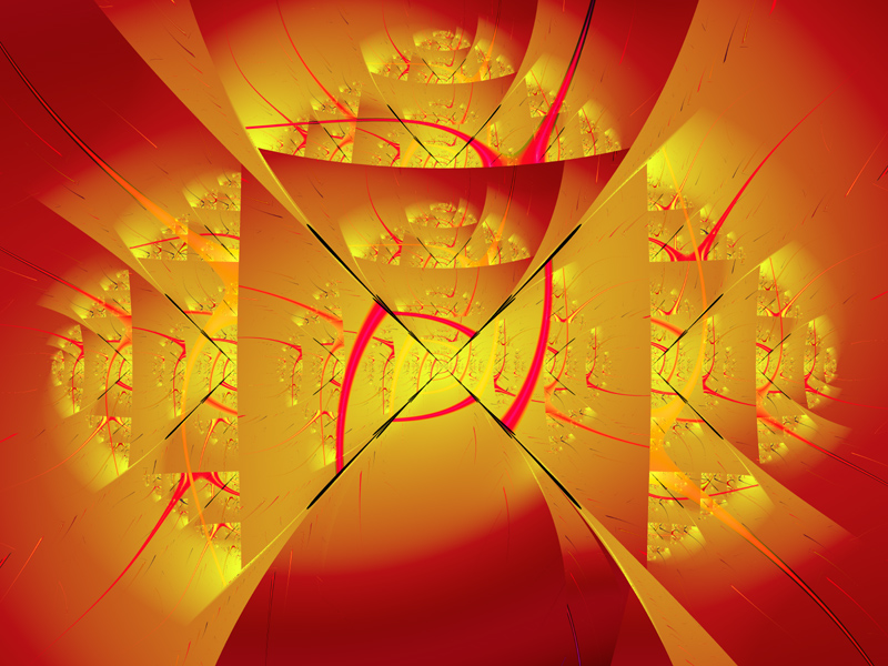 Fractal Art Wallpaper, Fiery Angel 2