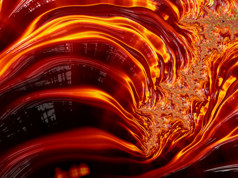 Fractal Art Wallpaper, Fire 5