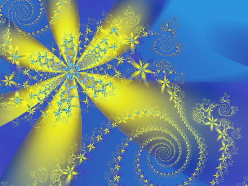 Fractal Art Wallpaper, Flower Galaxies 5