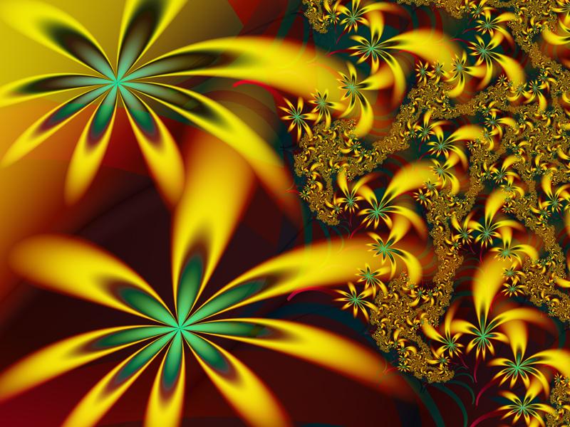 Fractal Art Wallpaper, Flower Of The Universe
