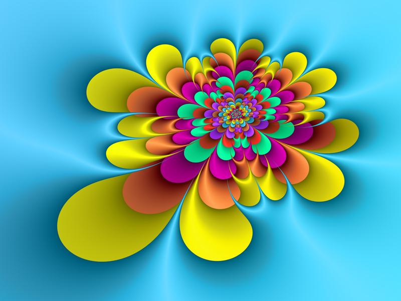 Fractal Art Wallpaper, Flower