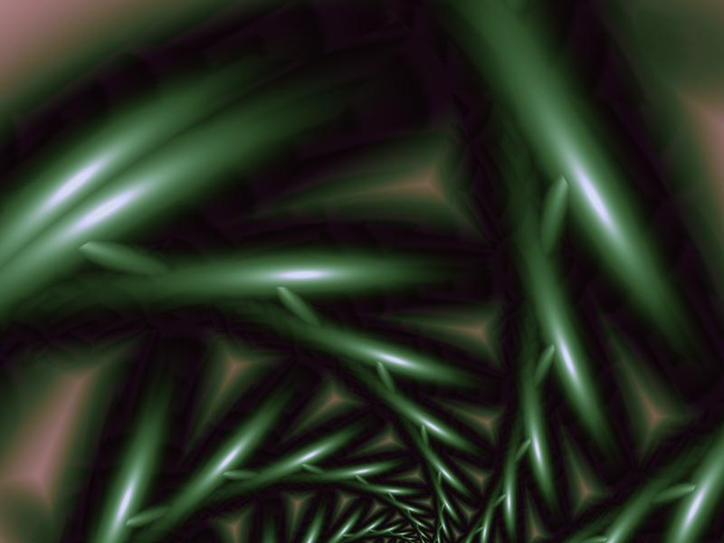 Fractal Art Wallpaper, Green Decision 2