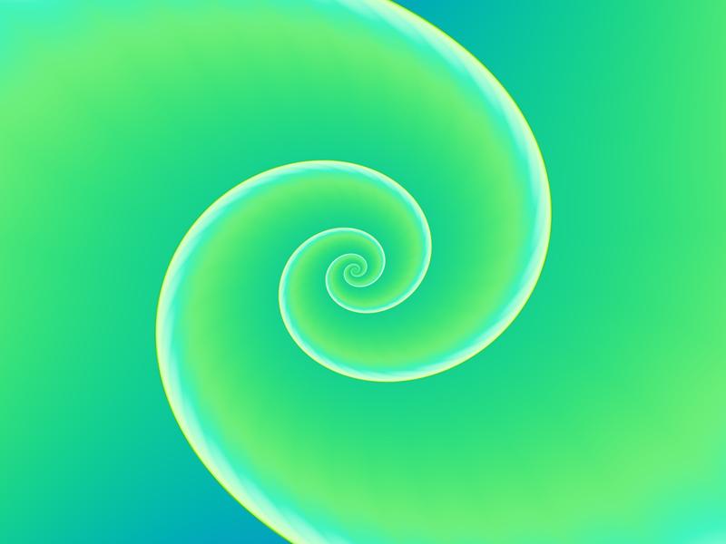 Fractal Art Wallpaper, Green Spiral 2