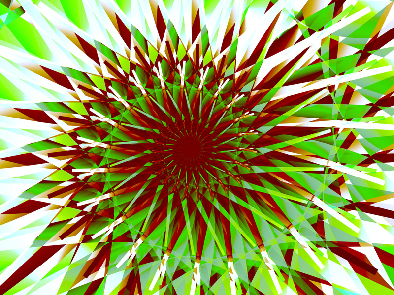 Fractal Art Wallpaper, Green Spiral