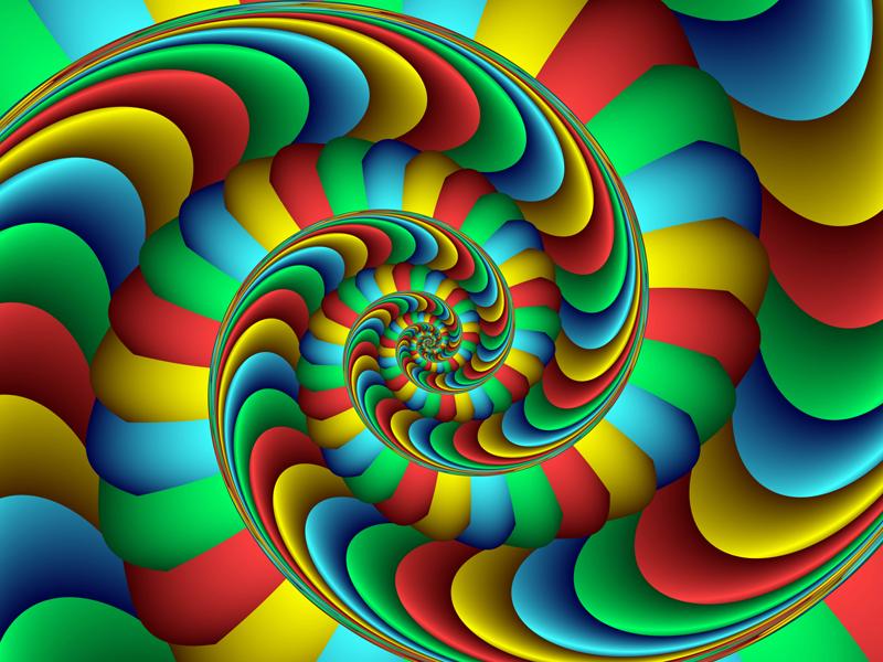 Fractal Art Wallpaper, Happy Rainbow Colorful Fractal