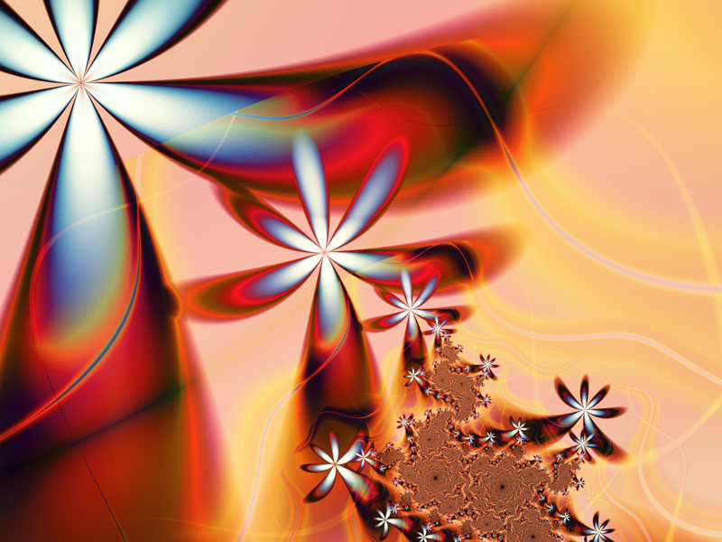 Fractal Art Wallpaper, Heat Wave 2