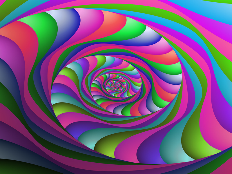 Fractal Art Wallpaper, Hot Colors