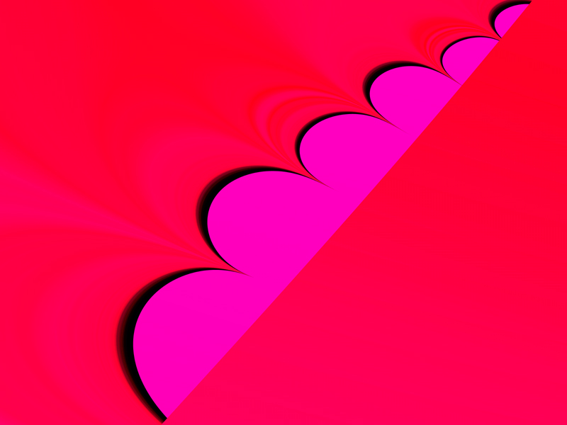 Fractal Art Wallpaper, Hot Pink Lace Trim