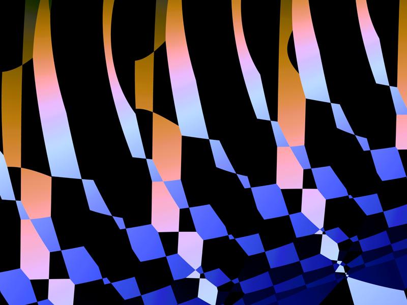 Fractal Art Wallpaper, Hypercross Magnitude