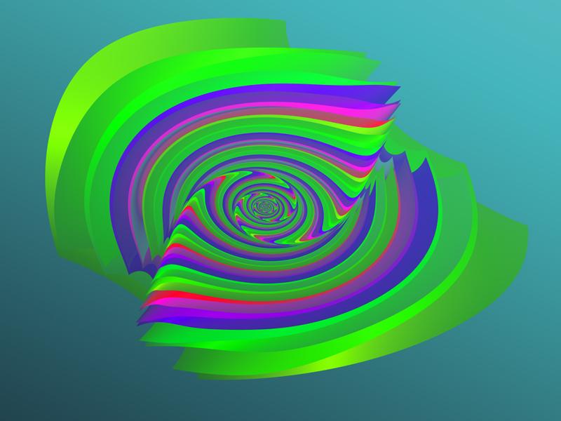 Fractal Art Wallpaper, Indented Parabola 2