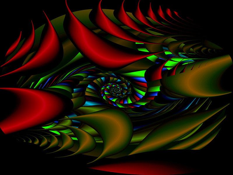 Fractal Art Wallpaper, Jungle Light 3