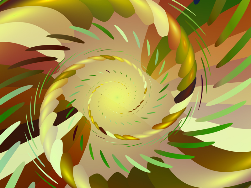 Fractal Art Wallpaper, Jungle Morning 2