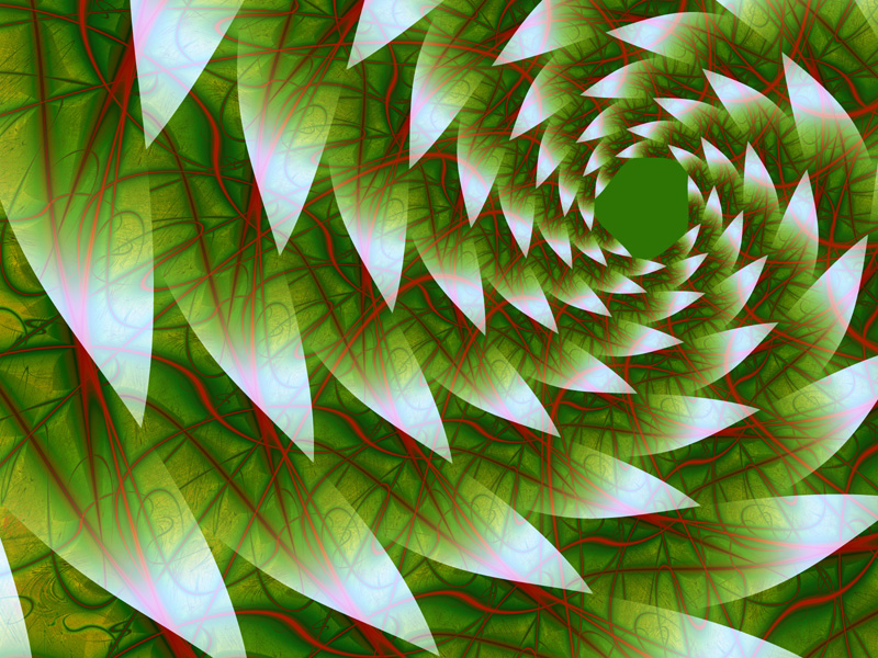 Fractal Art Wallpaper, Leaves