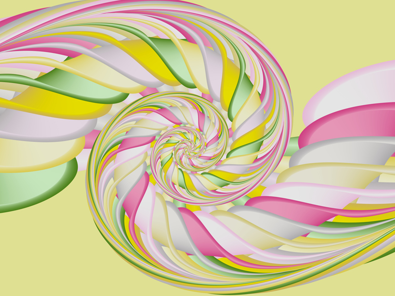 Fractal Art Wallpaper, Lemon Mint Candy