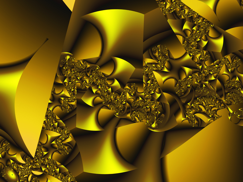 Fractal Art Wallpaper, Mellow Yellow