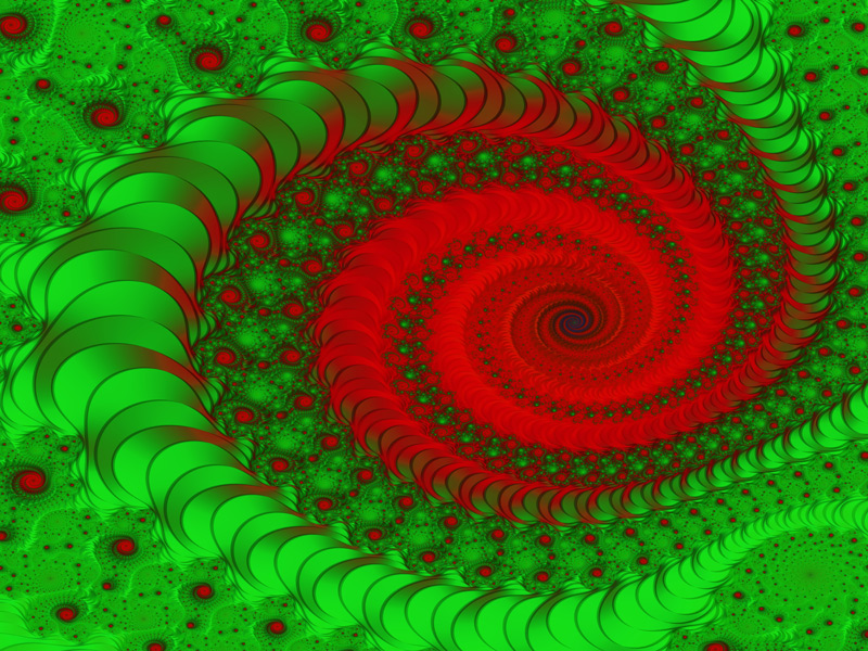Fractal Art Wallpaper, Merry Christmas