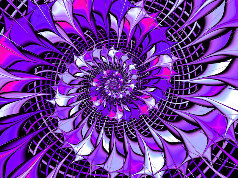 Fractal Art Wallpaper, Morph Function Zero Purple