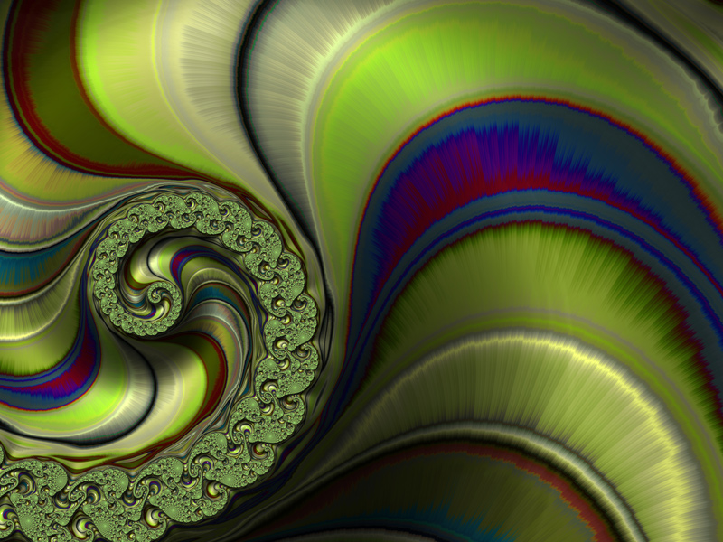 Fractal Art Wallpaper, Mostly Green