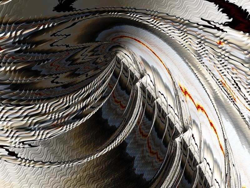 Fractal Art Wallpaper, Mountain Climbing