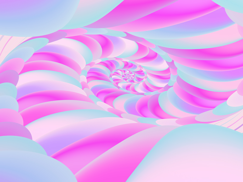 Fractal Art Wallpaper, Pale Snail