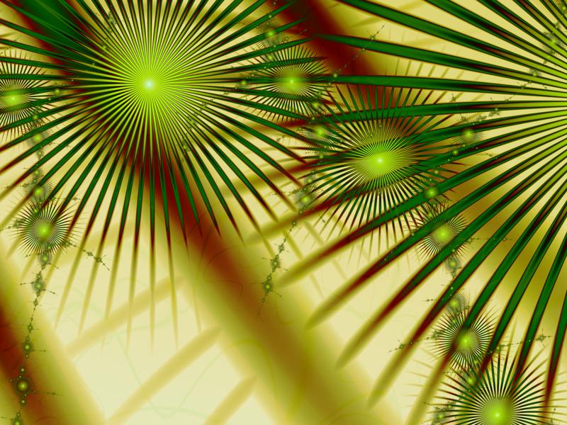Fractal Art Wallpaper, Palm